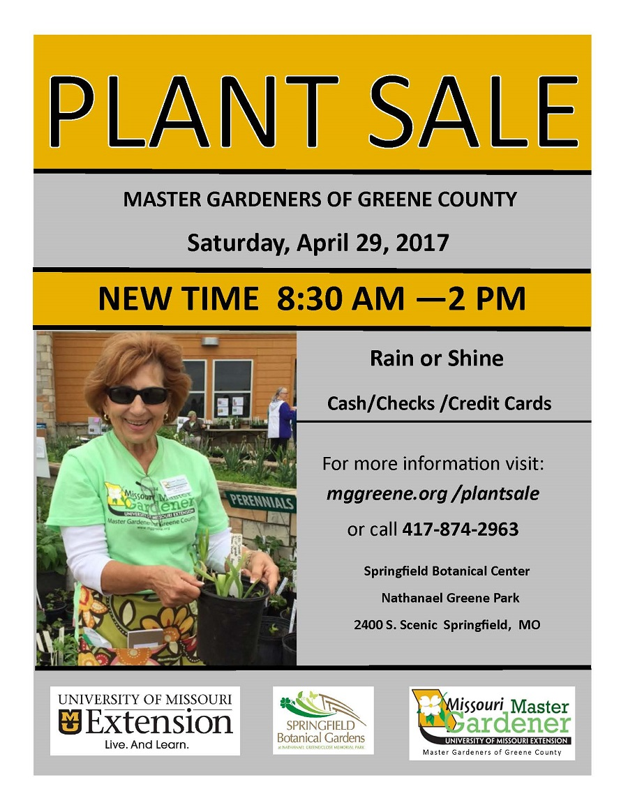 2017 Annual Plant Sale Times Have Changed Master Gardeners Of Greene County